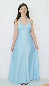 Vintage 1970's Disco Era Light Blue Halter Formal Gown ...