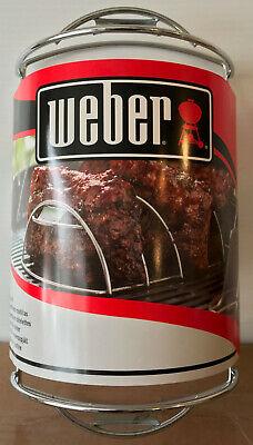 Weber OEM Stainless Steel Rib Rack for Grilling  - 6605 - Holds 5 Racks - NEW ()