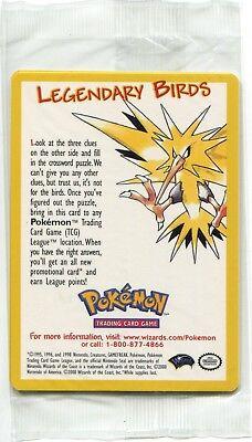 New & Sealed Legendary Birds Pokemon The Movie Promo Card Pack
