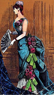 """1882 Ball Gown Sewing Pattern for a 36"""" lady doll #33-36"""