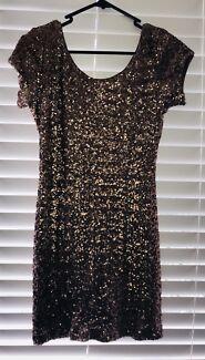 Bronze Sequin Dress - low back
