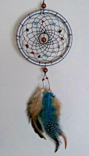 Cherokee Dream Catcher ~ Genuine Turquoise Coral Stones