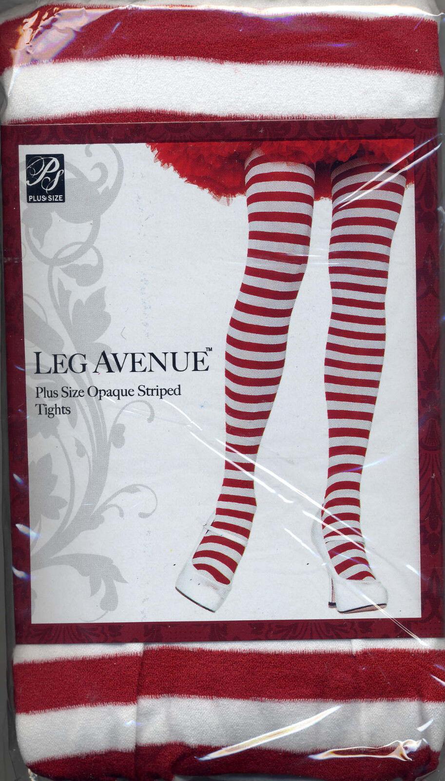 3869d982a ... Leg Avenue 7100 Women s Opaque Striped Tights Plus 1-2X or 3-4X Queen