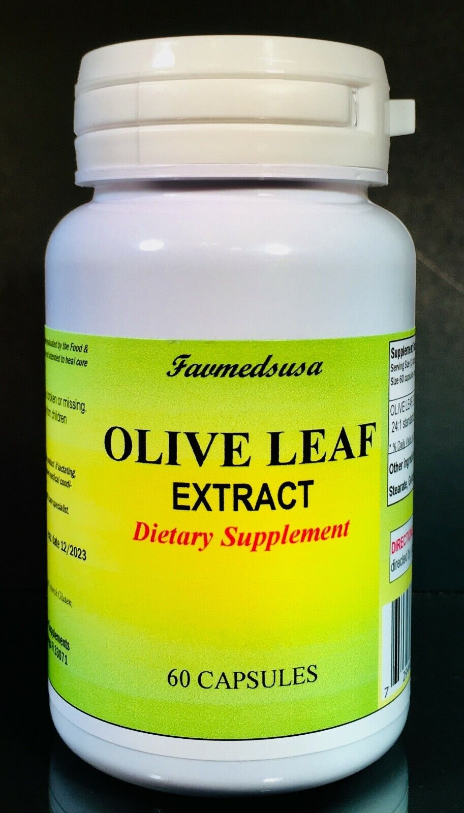 Olive Leaf Extract 500mg, antioxidant, cholesterol - 60 to 240(4x60) capsules
