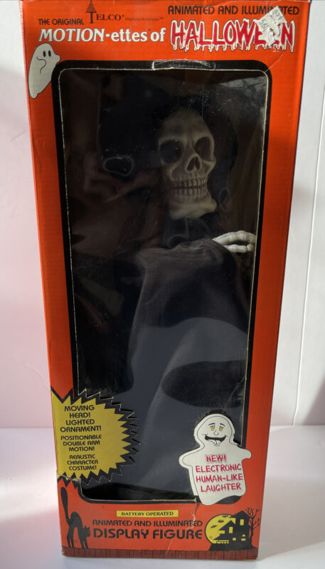 Vintage Motionettes Of Halloween By Elco #92199 Skeleton In Box Works. TESTED