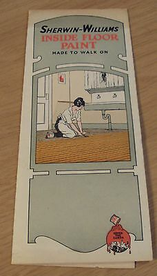 Rare 1920S Advertising Samples Brochure  Sherwin Williams Inside Floor Paint