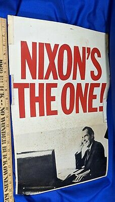 1972 PAT /& RICHARD NIXON PICTURE CAMPAIGN POSTCARD INDIANA TICKET ON BACK