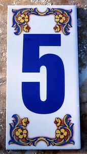 Decorative house numbers ebay for Mediterranean house numbers