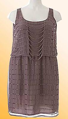 Flapper-stil Kleider (Simply Be Damenkleid 1920 Flapper Stil Party Tunika Plus Size 16 22 UK)