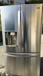"Lg  36 "" W counter depth stainless steel french door fridge"
