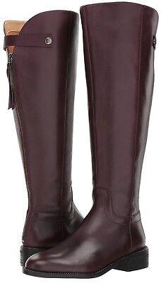 Burgundy Leather Calf Boots - Franco Sarto Women's Brindley Wide Calf Boot, Dark Burgundy