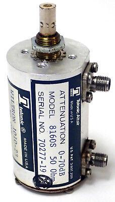 Telonic Altair 8160s Attenuator 0-70db 50ohm Telonic Wiltron 1010-23 50 Ohm