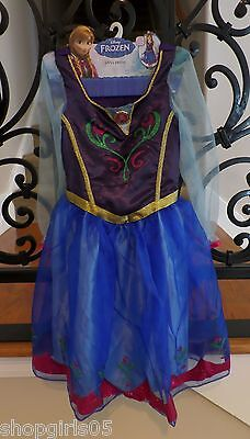 NWT Disney Frozen Anna Costume Princess Dress 4-6X In Hand -Ready to - Quick Disney Costumes