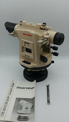 David White Lt8-300p Transit Level Optical Plummet - Excellent Condition