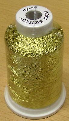 Maschinenstickgarn 1,30 Euro/100m Metallic gold 1000m 40er Lurex Metall CZN75 ()