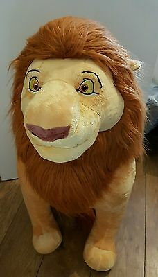 """Disney store rare huge mufasa soft plush toy the lion king new with tag 33"""""""