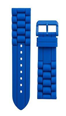 Uhrenarmband M-Watch by Mondaine Ltd Uhrenband Silikon Gummi Blau 22mm FPDIV.40