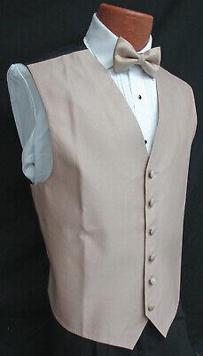Men's Latte Brown Armanno Tuxedo Vest & Choice of Tie Wedding Prom Cruise Mason ()