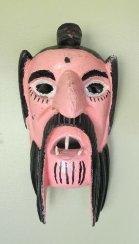 Vintage Ethnographic Ceremonial Oaxaca Mexico Mexican Dance Mask