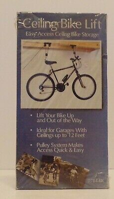 Sterling Ceiling Bike Lift 0784-BK, Pulley System, Ceilings Up to 12' Brand NEW