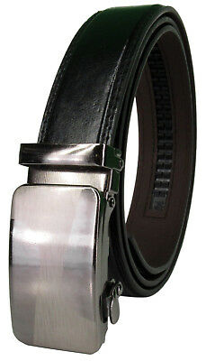 (Men Genuine Leather Automatic Ratchet Click Lock Buckle Belt Designer StyleCA101)