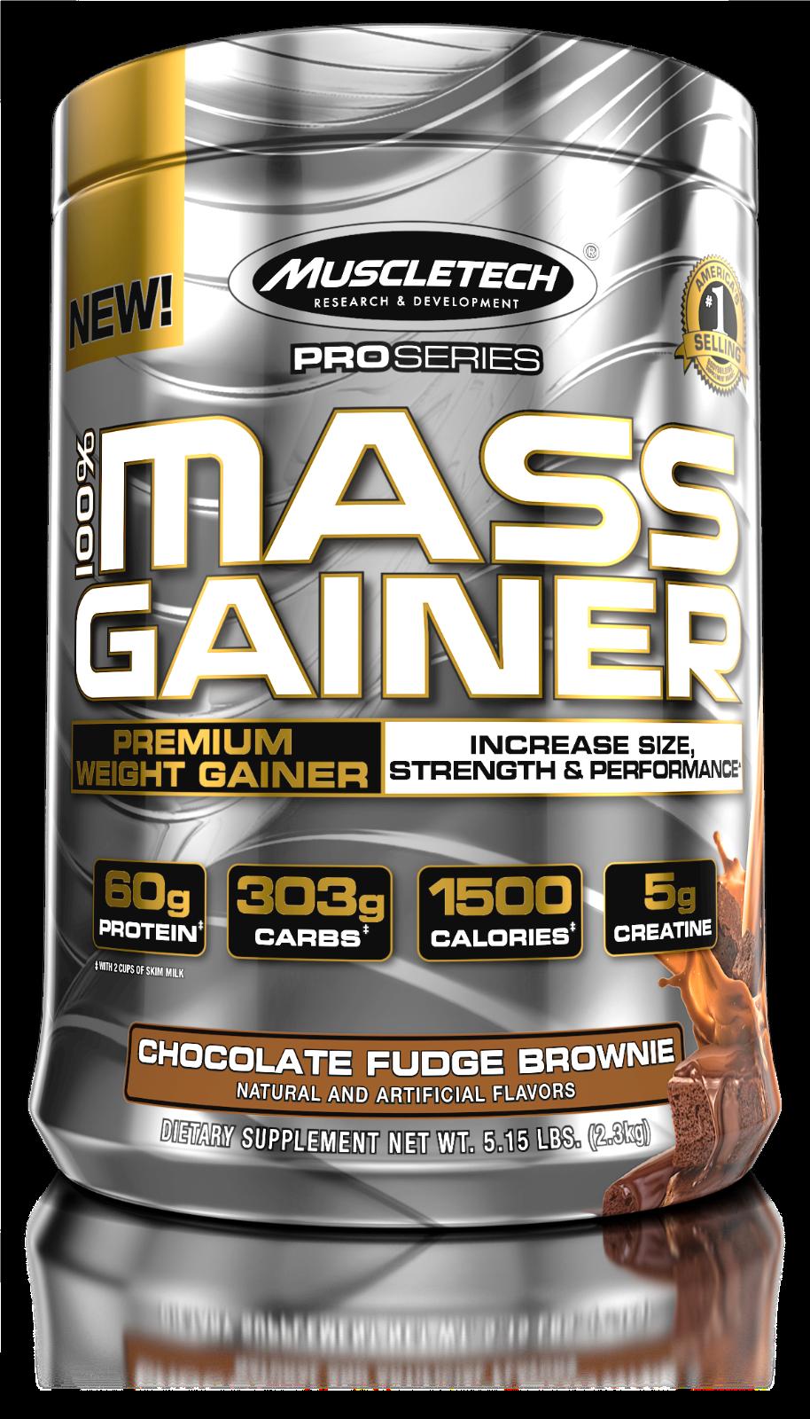 MUSCLETECH PRO SERIES 100% MASS GAINER Choc Fudge Brownie 5.