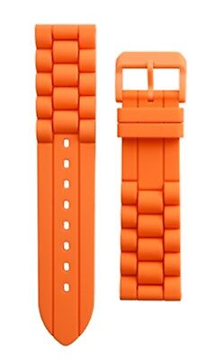 Uhrenarmband M-Watch by Mondaine Ltd Uhrenband Silikon Orange 22mm Neu FPDIV.35