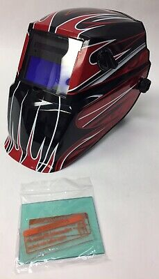 Lincoln Electric Red Fierce Variable-shade Auto-darkening Welding Helmet K3063-1