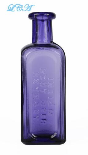 RARE purple INDIAN Root Beer extract ORIGINAL antique bottle  BIM