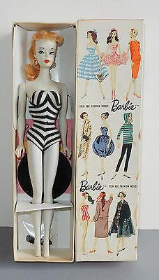 Vintage #2 Barbie Blonde Ponytail Box Stand 1959