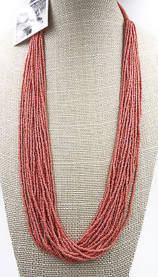 New Coral Seed Bead Necklace by Anthropologie NWT #N2397 ()
