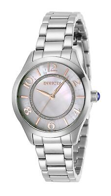 Invicta Women's Angel 31107 33mm White Dial Stainless Steel Watch