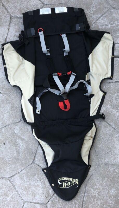 BOB Revolution Single Jogger Stroller FABRIC SEAT Cloth - Black & Tan - Used
