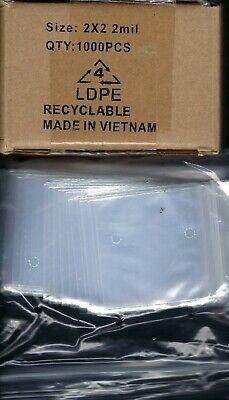 2 X 12 Self Seal Clear Plastic Bags Ten bags in Box of 1000 bags total!
