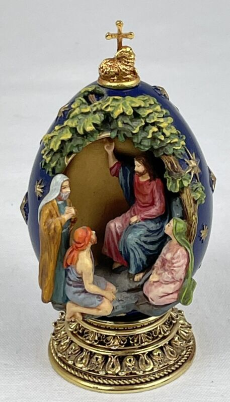 House of Faberge Egg Sermon on the Mount Life of Jesus The Franklin Mint br1