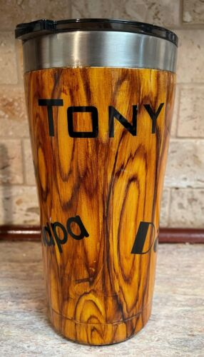 Personalized Wood Grain Epoxy coated Tumbler - FREE SHIPPING - 20 oz Ozark Trail