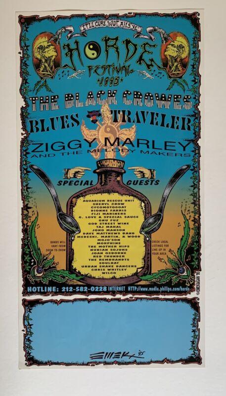HORDE Festival Original Concert Poster 1995 Signed by Emek