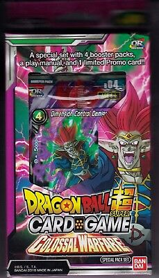 Dragonball Super Card Game Colossal Warfare special pack set 4 packs English