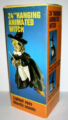 """GEMMY 24"""" Halloween Animated Flying Witch"""