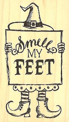 Halloween Witch Smell My Feet Wood Mounted Rubber Stamp JUDIKINS 3735F New](Smell My Feet Halloween)