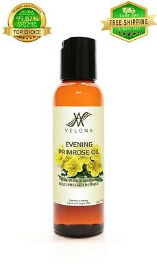 Evening Primrose Oil 2 oz NATURAL CARRIER VIRGIN Cold Pressed 100% PURE VELONA Health & Beauty
