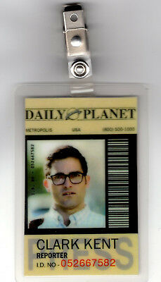 Superman Clark Kent Kostüm (Supergirl Id Badge-Daily Reporter Planet Clark Kent Superman Kostüm Cosplay)