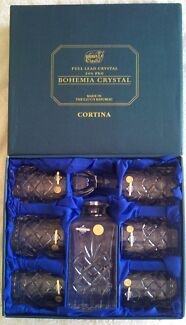 CORTINA   BOHEMIA  Crystal Whisky Set Canley Vale Fairfield Area Preview