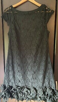 Jessica Simpson Dress Size 12 Black Lace With Feather Detail. Never Worn, No Tag