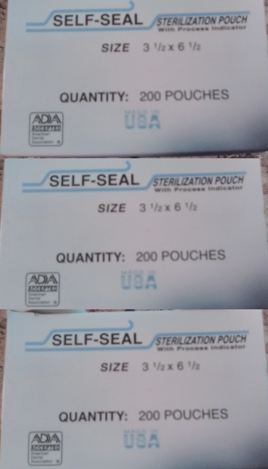 600 3.5x6.5 Sterilization Bags Self-Seal Autoclave Pouches Dental TATTOO Labs - $33.02