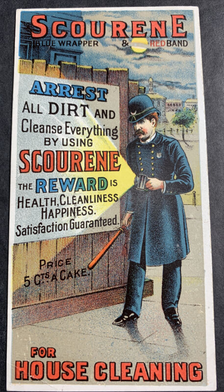 Scourene Cleaner Police Officer With Flashlight Circa 1900 New York City