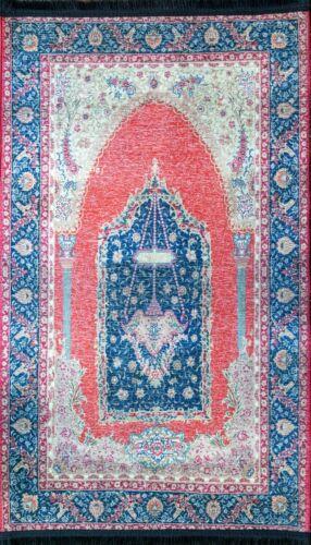 "Islamic Muslim Turkish Prayer Rug Seccade Sajadah Salat Carpet Mat 28"" x 48"
