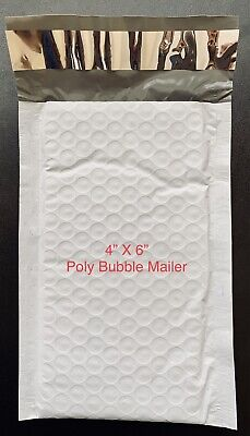 5 Extra Small 0000 4x6 Poly Bubble Envelopes Tiny Padded Shipping Mailers