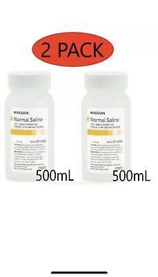 Mckesson Irrigation Solution Sodium Chloride 0.9solution Bottle500ml Pack Of 2