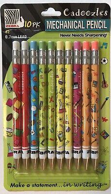 Zebra Cadoozles Mini Mechanical Pencil 0.7mm 2 Multi-colors 10 Pack New